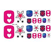 22PCS Colorful Dazzling Star Cartoon Toenail Art Sticker XJ Sery No.19