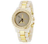 Women's Tower Pattern Diamond Case Plastic & Alloy Band Quartz Analog Wrist Watch (Assorted Colors)