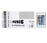 NEW 3 Channels Max 9A Output Smart Current Common Anode IR Remote RGB LED Lighting Music Controller (DC12V-24V)