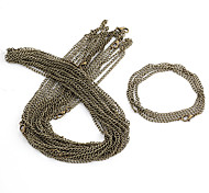 Vintage Bronze Alloy Chains 10 Pcs/Bag