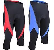 Arsuxeo Bicicletta/Ciclismo 3/4 Collant/Corsari Per uomo Traspirante / Design anatomico / Pad 3D Spandez / Tessuto sintetico CollageM / L