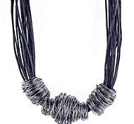 1 Stück Modekabel mit Netz Ball Halskette
