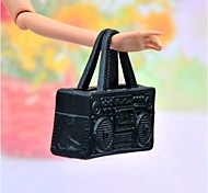 Barbie Doll Office Lady Style Black PVC Handbag