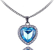 (1 Pc)European (Ocean Star) Silver Alloy Pendant Necklace(Blue)