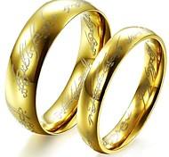 amantes clássicos senhor aço inoxidável de casal anéis (2 peças)