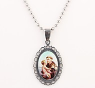 Personalized Gift  Christian  Pattern  Engraved Necklace