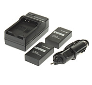 ismartdigi 1020mAh Camera Battery(2pcs)+Car Charger for NIKON COOLPIX A J1 J2 J3 S1