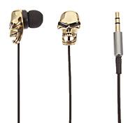 Schädel-Shaped Stereo-In-Ear-Kopfhörer (Gold)