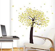 1PCS Colorful Removable Yellow Flower Tree Wall Sticker