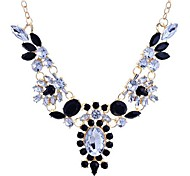 Black / White Statement Necklaces Alloy / Gem / Resin Party Jewelry