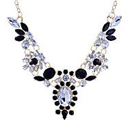 lureme®vintage cristais completos colar de strass diamante