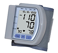 Wrist Blood Pressure Monitor, Large Screen Display Digital LCD (Branco)