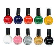 10er Mixed-Color Stamping Nagellack Nail Art Printing Kits (12 ml)
