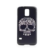 Black Skull Pattern PVC Back Case for Samsung Galaxy S5 i9600
