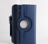 Rotatable Leather Case with Stand and  Touch Pen for Samsung Galaxy Tab 3 Lite T110 (Assorted Colors)