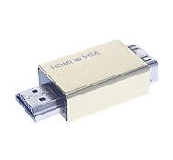 HDMI V1.3 to VGA M/F Adapter Golden
