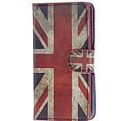 Retro UK Flag Pattern PU Leather and Plastic Back Cover Full Body Case for Samsung Galaxy S5 I9600