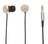 Stereo Spherical Headphone In-Ear para Computador / iPad / iPod (ouro)