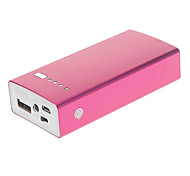 5200mAh Square Shape Metal Polymeride Smart Power Bank for Cell Phones and Pads (Rose)
