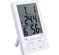 "4.4 ""LCD Digital Thermo-medidor de umidade para Indoor / Outdoor com relógio, calendário, alarme (1 * AAA)"
