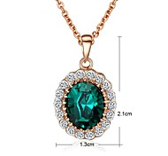 Golden Pendant Necklaces Gold Plated Wedding / Party / Daily / Casual Jewelry