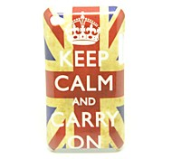 """Keep Calm and Carry On"" UK Flag Pattern Back Cover Hard Case for iPod Touch4"