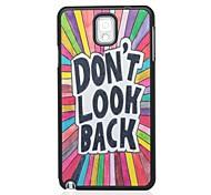 Non Look Back modello Hard Case per Samsung Galaxy Note N9000 3