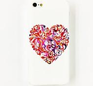 Colorful modello di amore Fiore Caso duro in policarbonato per iPhone 4/4S