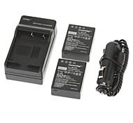 ismartdigi 950mAh Camera Battery(2pcs)+Car Charger for Fuji X-PRO1 XPro1 XE1 X-E1 HS30 HS33 EXR