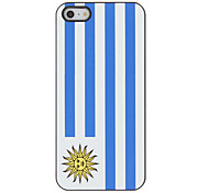 Top 32 World Cup Series Flag of Uruguay Pattern Hard Case for iPhone 5/5S