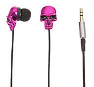 Schädel-Shaped-Stereo-In-Ear-Kopfhörer (Rose)