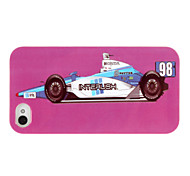 Gorgeous Purple Ground Race Car Pattern ABS Back Case for iPhone 4/4S