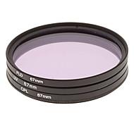 CPL + UV + FLD Filter Set for Camera with Filter Bag (67mm)