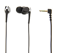 SD-Q5 3.5mm In-ear Headphone Headset with Mic for MP3(Black)