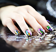 1PCS Laser Foil Nail Decorations Starry Nail Stickers No.19-26(Assorted Colors)