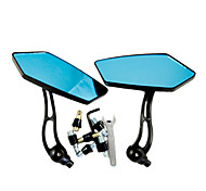 KOSO NIZ4 Motorcycle Remould Parts Aluminium Material Blue Glass Rearview Mirror (Pair)