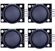 módulo de la palanca de mando del pulgar para ps2 (para arduino) - negro (4 pcs)