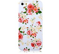 Rose Pattern Silicone Soft  Case for iPhone 4/4S
