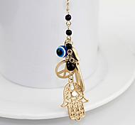 Peace Palm Pendant Bead Necklace