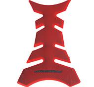 Fishbone Rubber Motorcycle Soft Sticker - Rojo