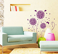1PCS Purple Flower Wall Sticker