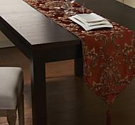 Burgundy Polyester Rectangular Table Runners