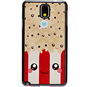 Smiling Faces Decal Pattern Mirror Smooth Back Hard Case for Samsung Galaxy Note3 N9000