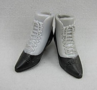 Casual Shoes For Barbie Doll Black / Gray Shoes