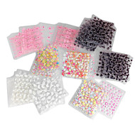 40PCS mixte conception de style 3D Nail Art Stickers