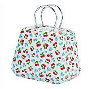 Criativo Padrão Handbag Design Cereja Metal Box