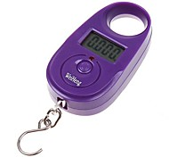 25kg * 5g Mini Purple Digital Display Hanging Luggage Fishing Weighing Scale KG LB