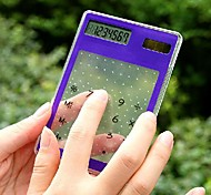 Ultrathin Transparent Solar Touch Screen Calculator (Assorted Color)