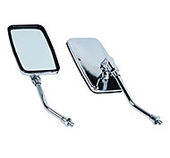 Motorcycle Remould Parts Electroplating Rectangle Rearview Mirror (Silver Pair)