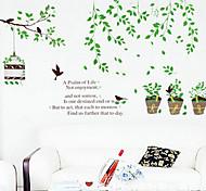 1pcs colorido vaso de plantas adesivo de parede
